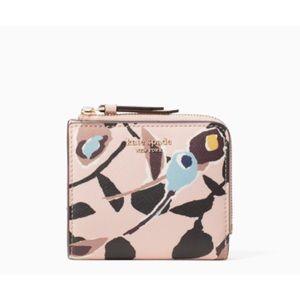 🆕 Kate Spade Cameron l-zip Bifold Wallet Pink NWT
